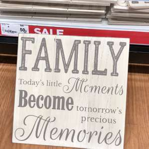 Asda Toryglen -  Large Wooden Family Plaque Wall Hanging was originally £5 now 50p