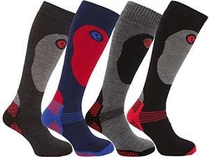 4 Pairs of Mens High Performance Thermal Ski Socks £7.36 + FREE UK delivery @ School Wear United & Ayra® Mens Wear via Amazon