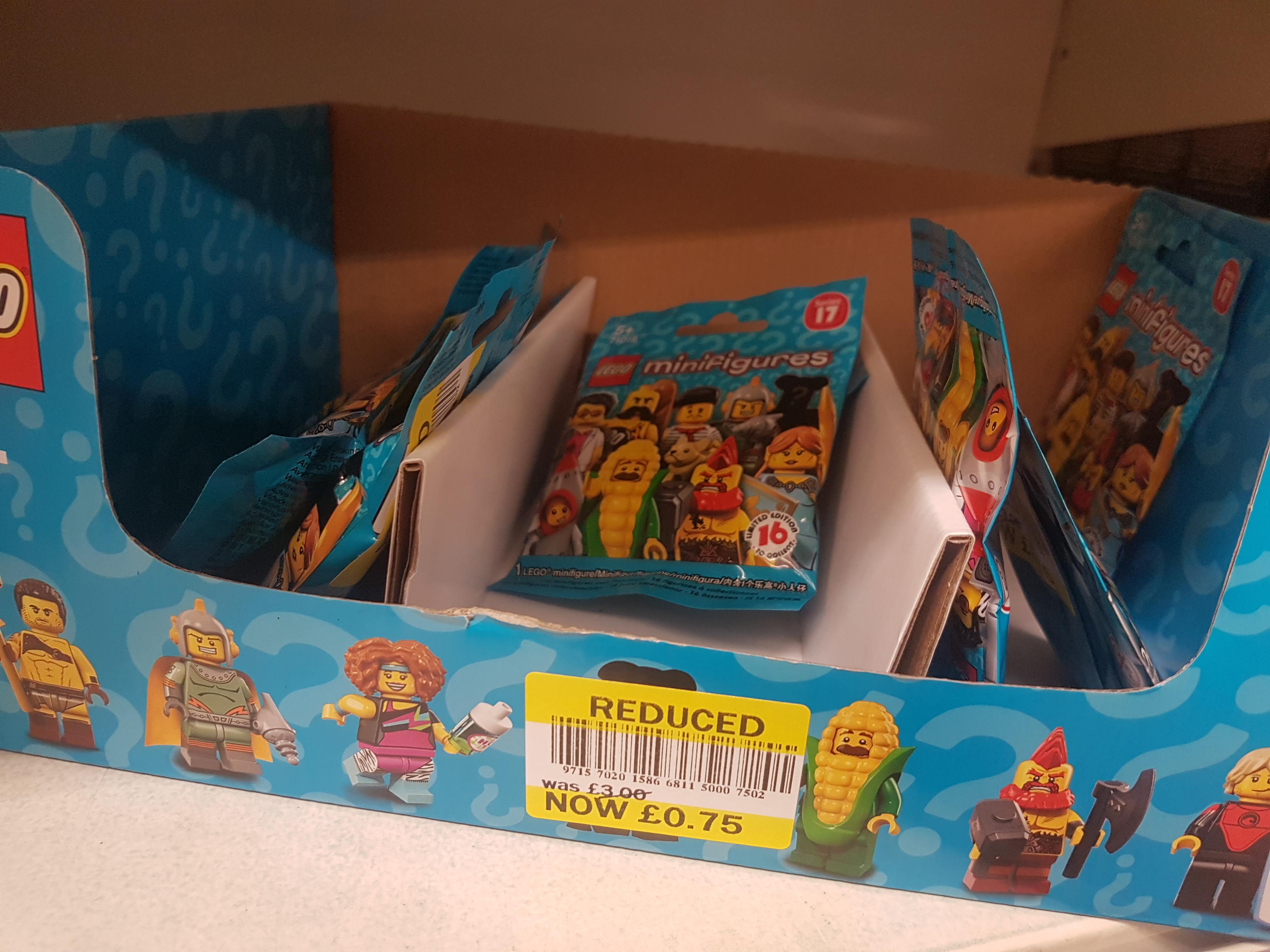 Lego minifigures series 17, 75p at Tesco Elmers End