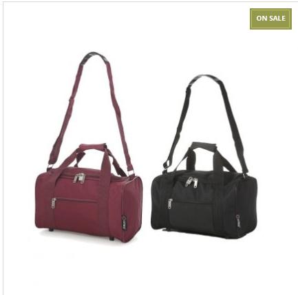 2 Flight Cabin Bags (black + wine) fulfils Ryanair criteria 35x20x20cm £15.99 delivered @ Travelluggagecabinbags