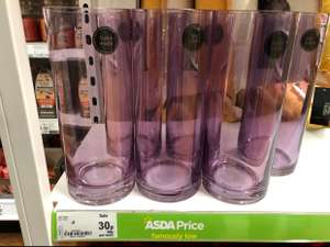 Asda Long Vase Red/Purple/Gold/Clear was originally £5 now 30p