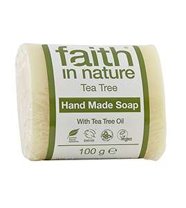 Faith in Nature Organic Tea Tree - Pack of 3 Soaps £7.72 & FREE UK delivery @ Superfood Market via Amazon