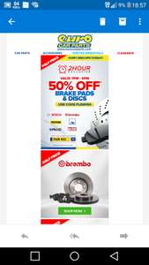 Euro Car Parts Flash Sale Brake Discs and Pads 50% off