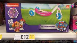 Tesco Nikkoldeon Paw Patrol My First Scooter was £24 now £12
