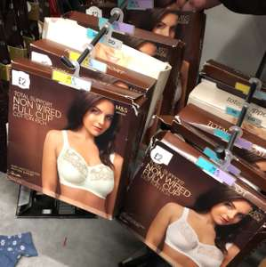 Marks & Spencers price drop for lingeries, boxes bras were £35-£25 now only £2 instore -  Argyle St Glasgow