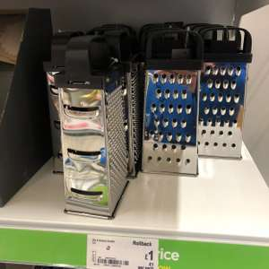 Asda 4 sided grater was originally £2.50 then £2 and now £1