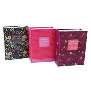 Tallon 6x4 Designer Photo Album with 100 Pockets £2.50 @ Amazon - Add on item