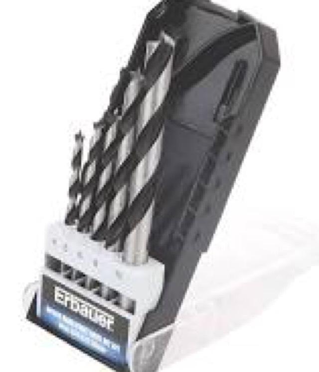 Erbauer Brad Point Drill Bit Set £1.99 ( was £6.29 ) @ Screwfix C&C