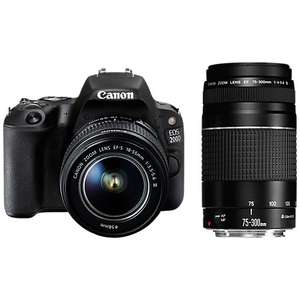 Canon EOS 200D Digital SLR Camera with 18-55mm f/3.5-5.6 III & EF 75-300mm f/4-5.6 III Lenses £599.95 (£549 after Cashback) @ John Lewis