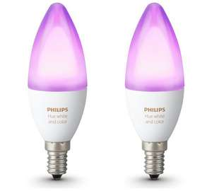 4 x Philips Hue E14 Candle Colour Bulbs with Philips Motion Sensor save £55 £149.99 @ Argos