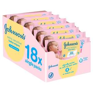 Johnsons Extra Sensitive Fragrance Baby Wipes 18 x 56 per pack £10.50 (1p per wipe) @ Morrisons