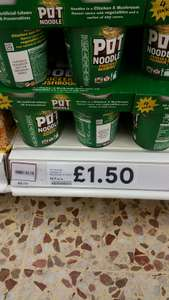 Pack of 4 Chicken Flavour Pot Noodles £1.50 instore @ Tesco