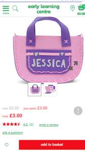 Design your own bag reduced down to £3 at ELC (free c&c or £3.95 delivery)