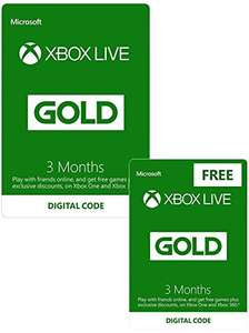Xbox Live 3 Month Gold Membership + 3 Month FREE | Xbox One/360 – Download Code £14.99 @ Amazon