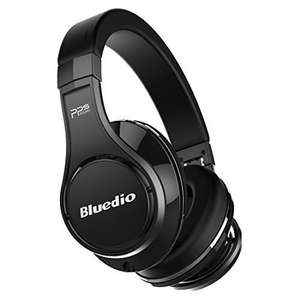 Bluedio U (UFO) High-End Bluetooth headphones Revolution Patented 8 Tracks /3D Sound Effect /Aluminum alloy build/wireless&wired Over-Ear headphones with carrying hard case Gift-package (Black) £52.49 Sold by Tencloud Direct and Fulfilled by Amazon
