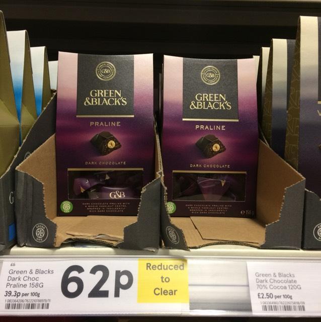 Green & Black's Dark Chocolate with Praline 62p instore - Tesco Rutherglen