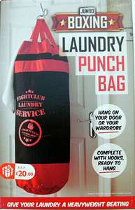 Laundry  Boxing / Punch bag reduce from £20 (allegedly!) to 10p in store B & M