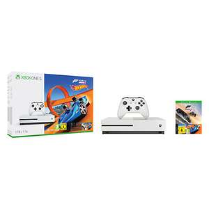 Microsoft Xbox One S Console, 1TB, with Wireless Controller and Forza Horizon 3 Hot Wheels and Gears of War: Ultimate Edition Bundle