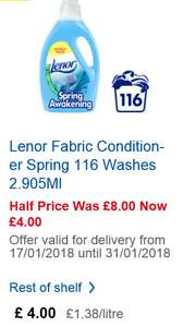Lenor Fabric Conditioner 116 washes @ Tesco £4.00 was £8.00