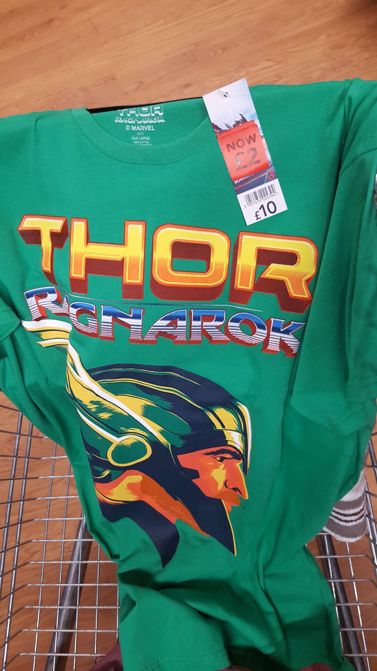 Thor Ragnarok T-shirt £2 Asda