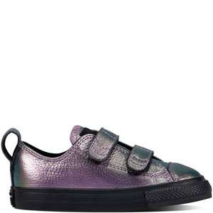 Update 24th Jan: Kids Chuck Taylor All Star 2V Iridescent Leather Shoes - £11.99 delivered @ Converse
