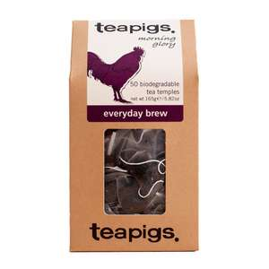Teapigs Everyday 50 bags (165g) are £4.15 on Amazon prime now