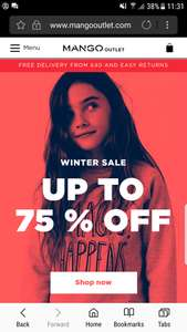 Mango Outlet online upto 75% winter sale £2.95 delivery or free delivery for over £40 spend. See post for some examples