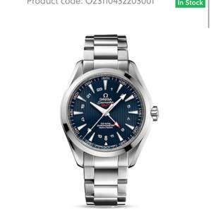 Omega Gents Seamaster Aqua Terra Co-Axial Blue 43mm Dial Watch £3700 - WAS £5280 @ Hugh Rice