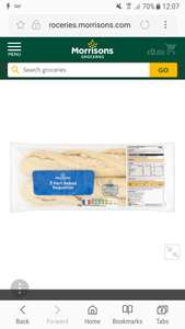 Morrison's bake at home baguette 2 pack 75p or 3 for £1 @ Morrisons
