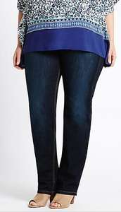 Marks and spencer plus size straight leg jeans Was £15 now £4.89,free c+c