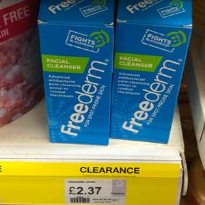 Freederm facial cleanser £2.37 superdrug instore