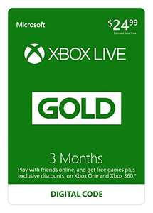 Xbox Live Gold Membership (Digital Code): 3-Months + Bonus 3-Months £10.80 @ Amazon.com
