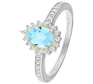 Sterling silver blue topaz & cz cluster ring was £44.99,then £17.99,with code £15.30 INSTORE ONLY @ argos