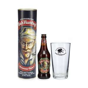 Bah humbug bottle of beer & glass gift box was £9-50,£4.75,now £2.85 @ debenhams - free delivery with code