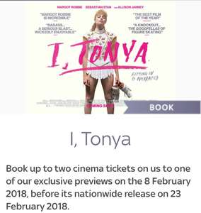 Sky rewards I Tonya booking now
