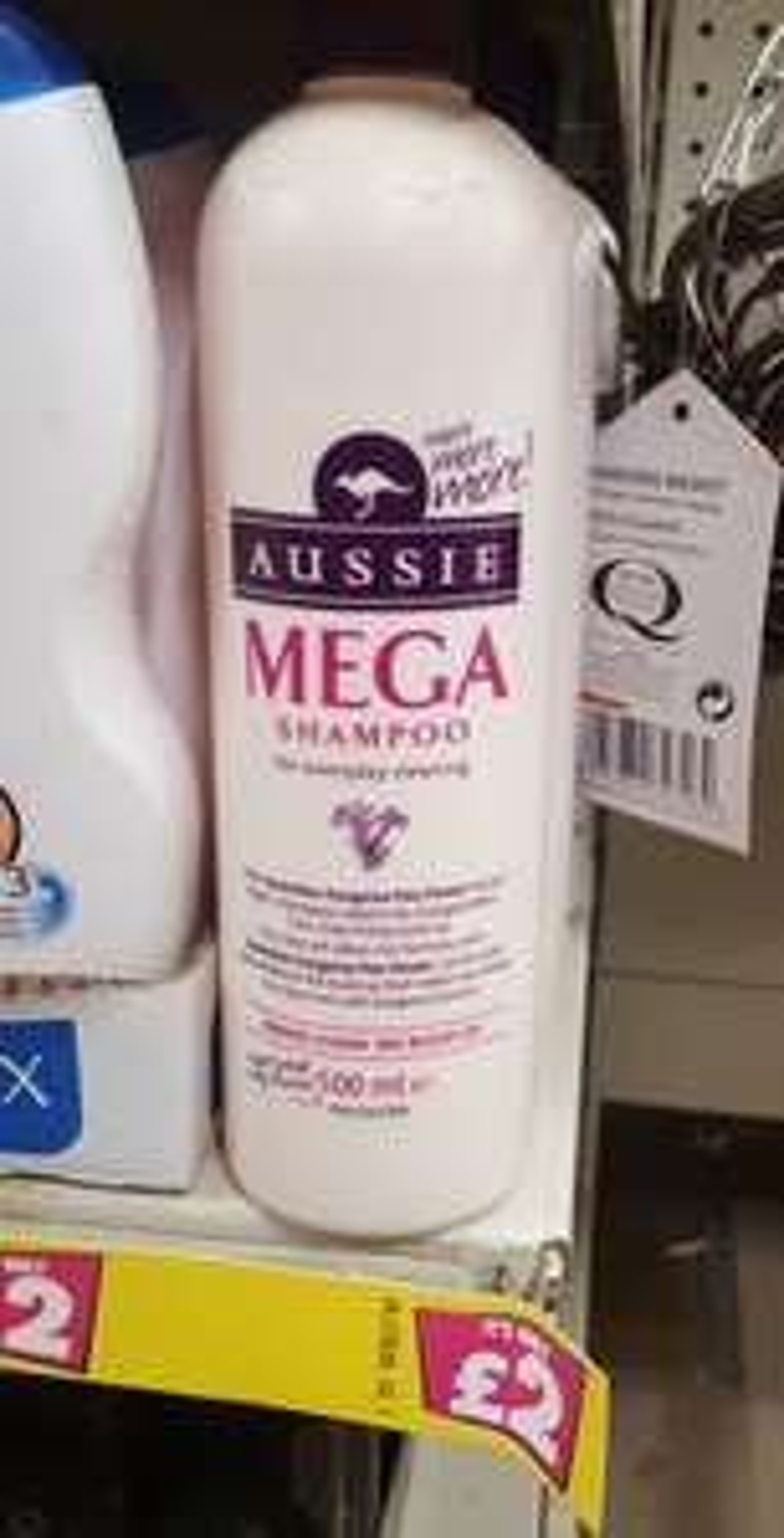 500ml Aussie Mega Shampoo - £2 instore @ Poundland