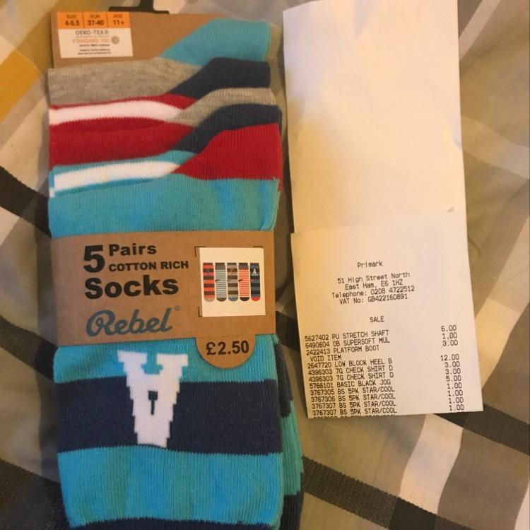 Primark Boys Socks - £1 instore - East ham