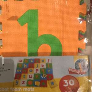 Mothercare Alphabet foam mats 30 tiles for £7.50 Instore only