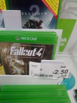 Fallout 4 Xbox one £2.50 Asda Motherwell.