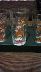 Reindeer 6inch tall drinking glasses 0.09p !!!! INSTORE only @ asda