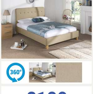 King Size Fabric Bed Frame £109 Delivered Next Day! @ Matressman