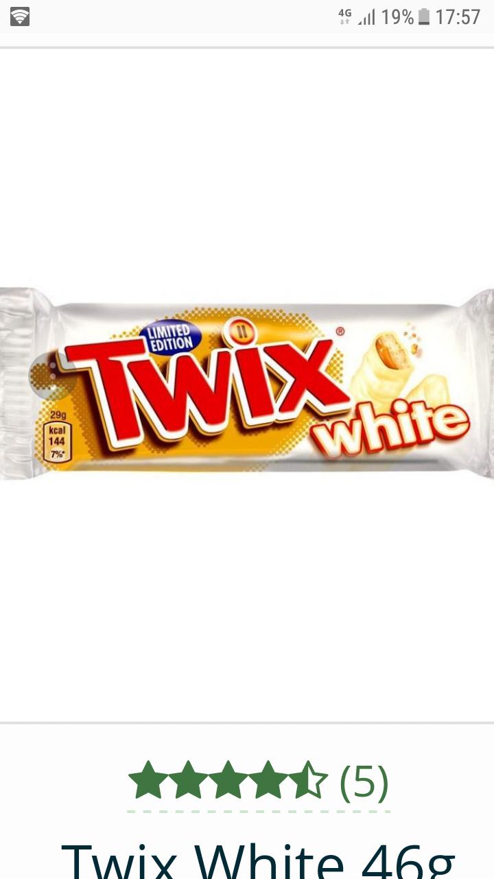 White choc twix 29p @ Poundstretcher / national