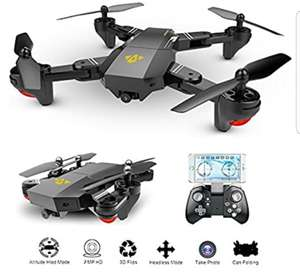 OKPOW 70% OFF 2MP 120° Wide Angle Drones 2.4G 6-Axis Gyro Foldable RC Quadcopter Wifi FPV Drone Altitude Hold 3D Flips Rolls Gravity Sensor RTF RC Drones £49.99 Sold by Posh Elite and Fulfilled by Amazon.