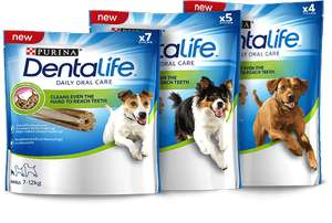 Free sample of Purina® DentaLife®(medium size) for dogs
