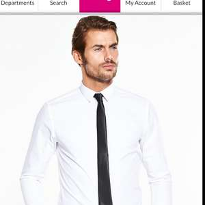 V by Very White Long Sleeve Shirt £3.60 free click and collect