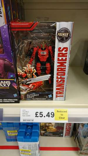 Transformers The Last Knight premium figures £5.49 in store Tesco South Queensferry