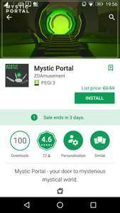 Mystic Portal, from £0.59, but currently free (for 3 day), at Google Play