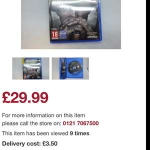Call Of Duty WWII (PS4) £29.99 - Cash Converters