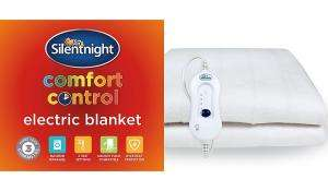 Silentnight Comfort Control Electric Blanket Single £6.50 Double £9.50 King £11 @ Asda