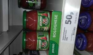 Dolmio 320g  50p online and in store Sainsburys